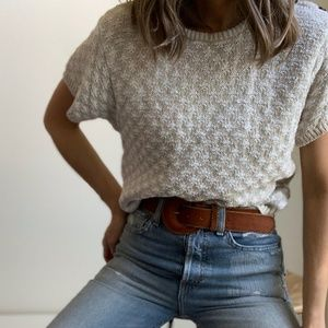 Vintage Sand Boxy Sweater Tee